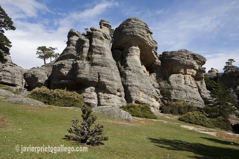 Formaciones rocosas en el paraje de Castroviejo. Duruelo de la Sierra. Picos de Urbión. Burgos. Castilla y León. España. © Javier Prieto Gallego.
