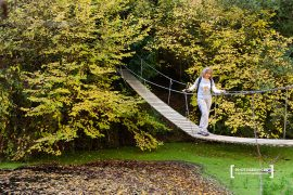 Desaparecida pasarela que cruzaba las aguas del Cega en la Senda de los Pescadores (Cuéllar – Segovia)