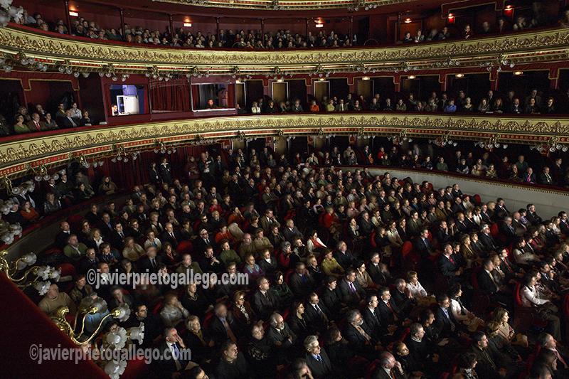 [Gala 10º Aniversario Fundación del Patrimonio Histórico de Castilla y León. Teatro Calderón. 24/1/2007. Valladolid. Castilla y León. España. © Javier Prieto Gallego]