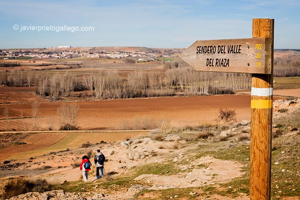 Sendero del Valle del Riaza. Aza. Burgos. Castilla y León. España. © Javier Prieto Gallego