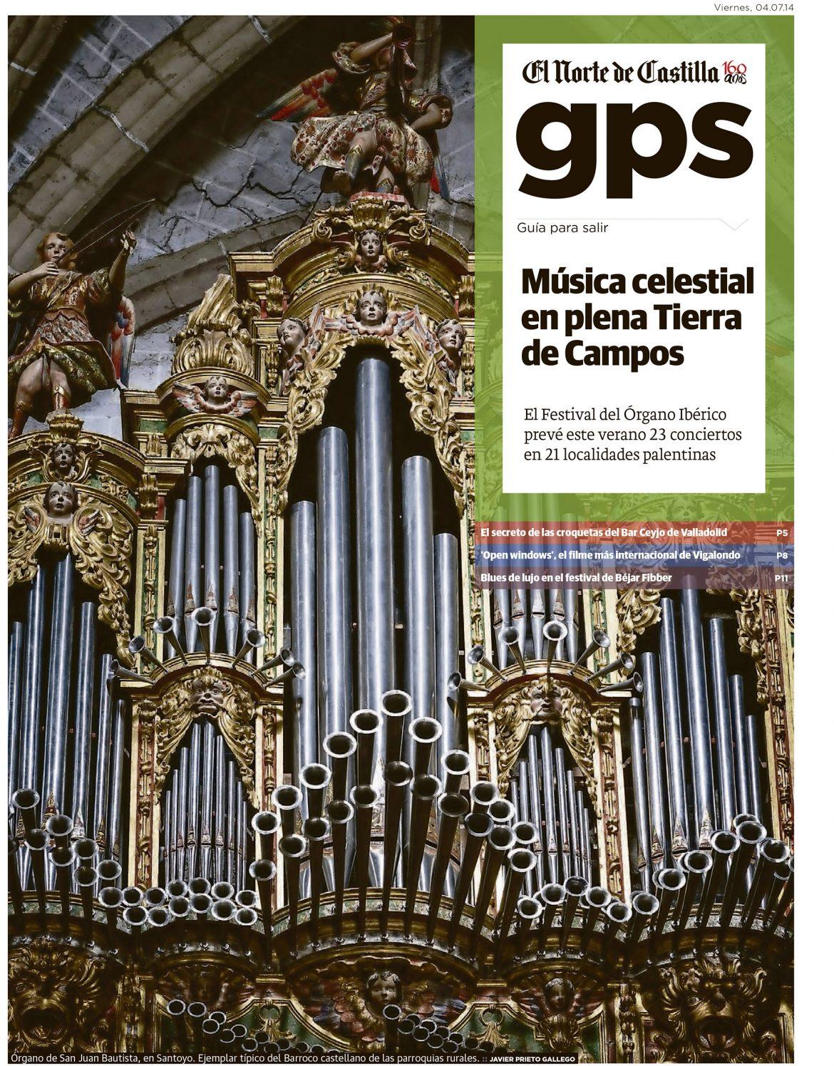 Festival de órgano ibérico en Palencia. Reportaje de Javier Prieto Gallego en El Norte de Castilla