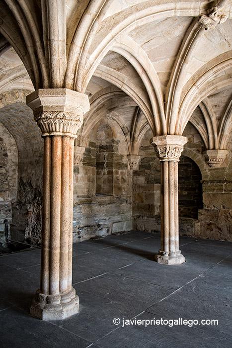 Sala capitular del Santa María de Carracedo. El Bierzo. León. Castilla y León. España. © Javier Prieto Gallego