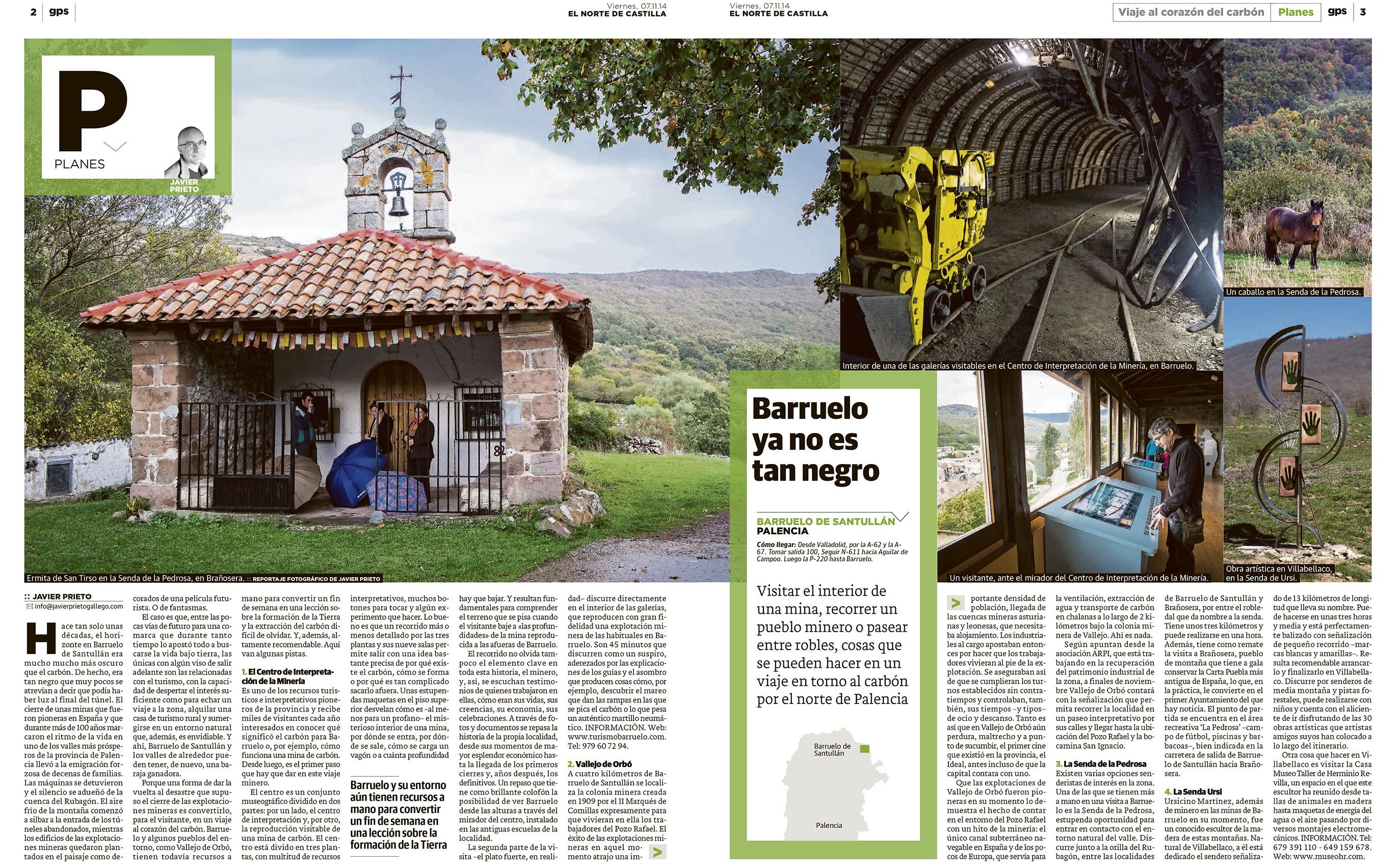 Visita minera a Barruelo de Santillán (Palencia). Reportaje publicado por Javier Prieto Gallego.