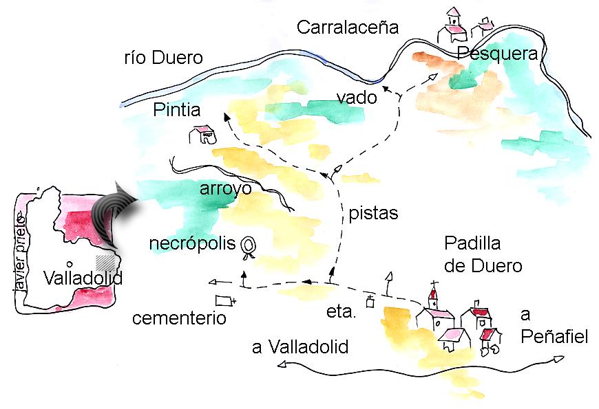 Croquis de un paseo en torno al yacimiento vacceo de Pintia (Padilla de Duero, Valladolid)