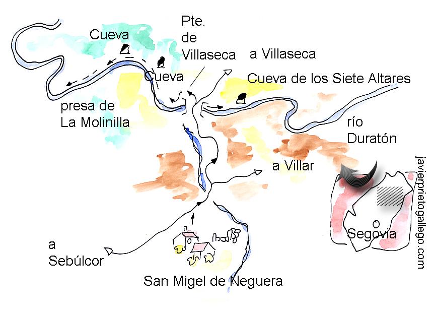 croquis de la ruta Senda de la Molinilla