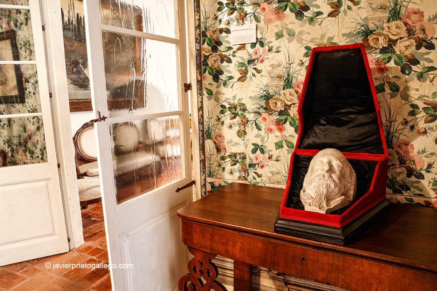 Máscara mortuoria realizada por Aurelio Carretero para hacer su escultura. Museo Casa de José Zorrilla. Valladolid. Castilla y León. España, 2008 © Javier Prieto Gallego