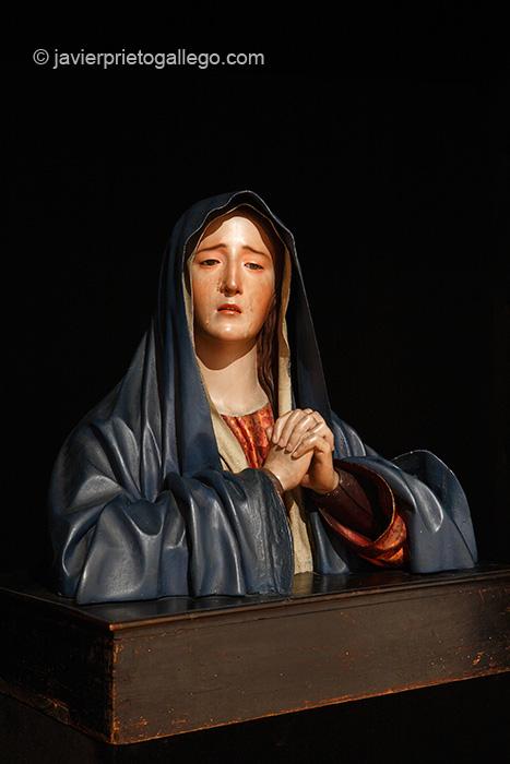 Dolorosa de Pedro de Mena. Museo. Monasterio de San Joaquín y Santa Ana. Valladolid. Castilla y León. España. © Javier Prieto Gallego