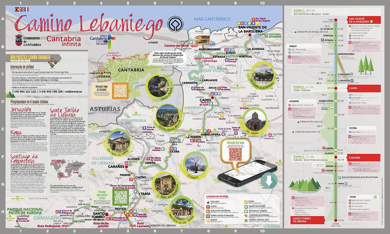 Mapa del Camino Lebaniego