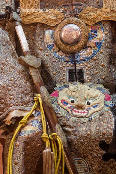 Uniforme de los funcionarios de la corte. Traje de clavos seda y oro. Museo Oriental. Valladolid. Castilla y León. España © Javier Prieto Gallego