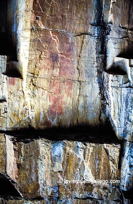 Pinturas rupestres. Canchal de las Cabras. Valle de Batuecas. Salamanca. Castilla y León. España.