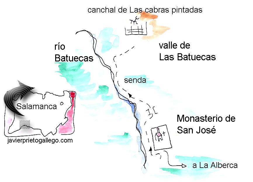 Croquis del paseo hasta el Chorro de las Batuecas. © Javier Prieto Gallego;