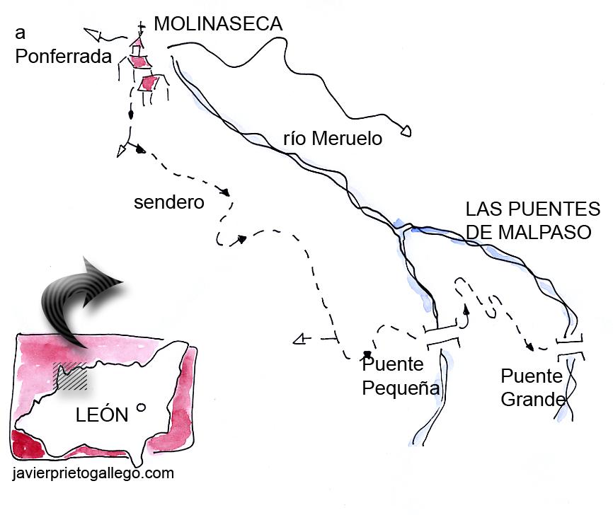 Croquis del paseo a Las Puentes de Malpaso.