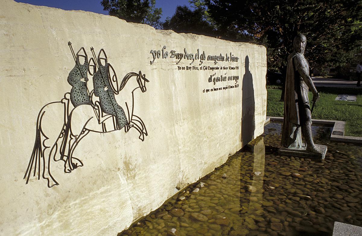 Monumento al Cid. Vivar del Cid. Legua 0 del Camino del Cid. Burgos. España. © Javier Prieto Gallego