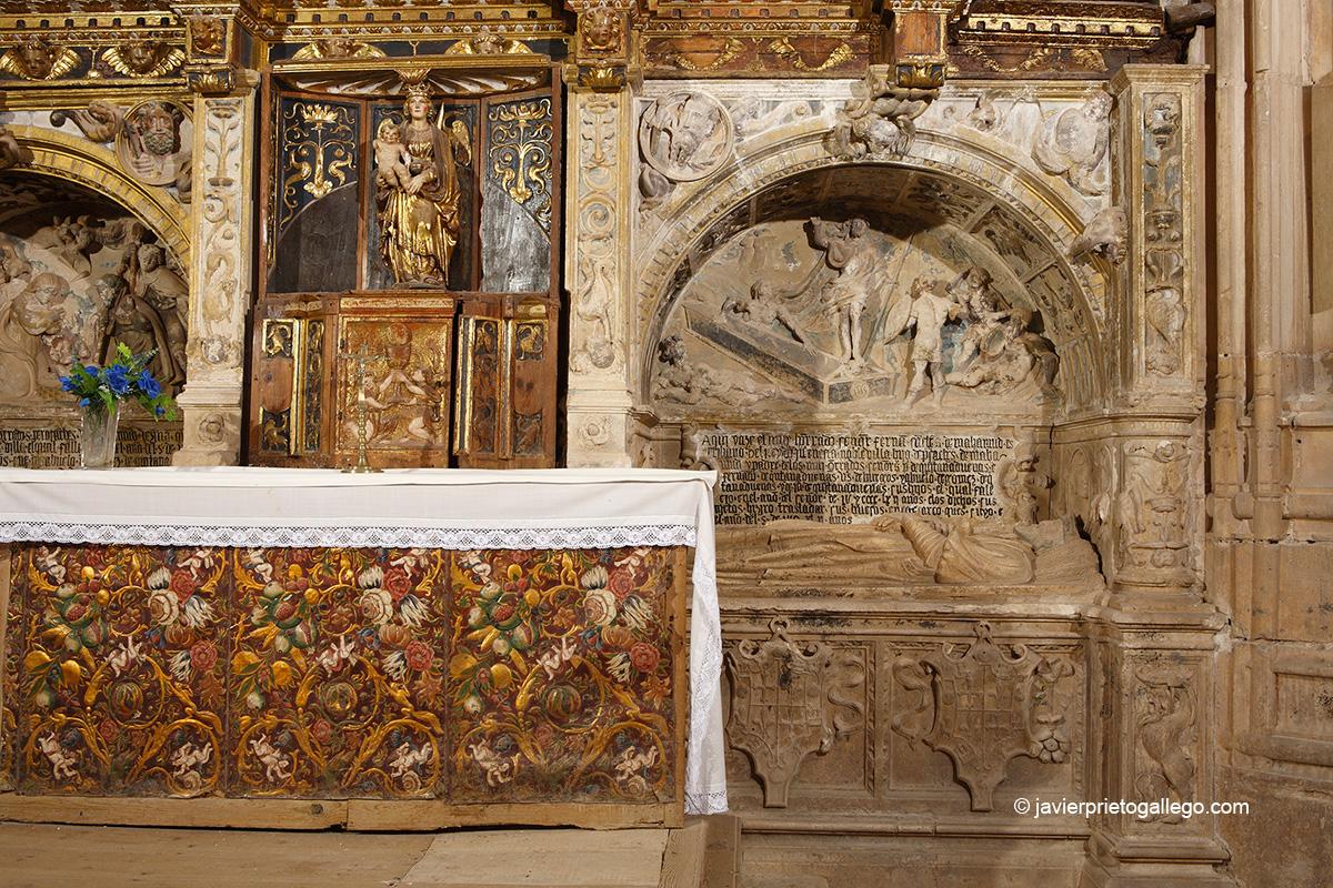 Retablo de San Juan Bautista. Iglesia de San Miguel. Mahamud. Burgos. Castilla y León. España. © Javier Prieto Gallego