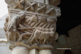 Calendario agrícola en los capiteles del Claustro de la iglesia de Santa María la Real de Nieva. Segovia. Castilla y León. España.© Javier Prieto Gallego