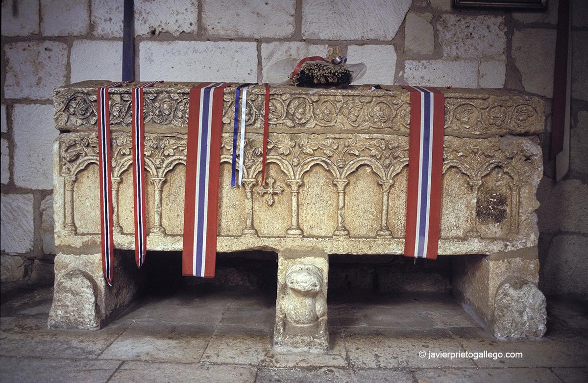 Tumba de la princesa Cristina de Noruega. Colegiata de Covarrubias. Burgos. Castilla y León. España. © Javier Prieto Gallego