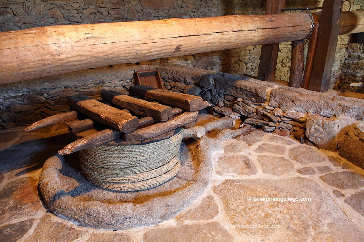Prensa de aceite. Museo del Aceite. Museo etnográfico. San Felices de los Gallegos. Salamanca. Castilla y León. España © Javier Prieto Gallego