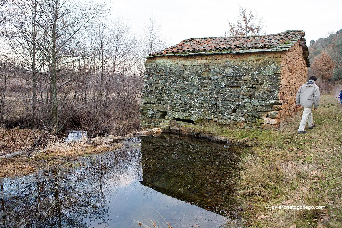 Molino junto al río Aliste cerca de Mahíde. Comarca de Aliste. Sierra de la Culebra. Zamora. Castilla y León. España. © Javier Prieto Gallego