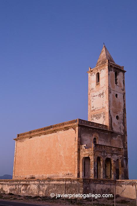 Iglesia de Las Salinas. Parque Natural Cabo de Gata. Almería. Andalucía. España.© Javier Prieto Gallego