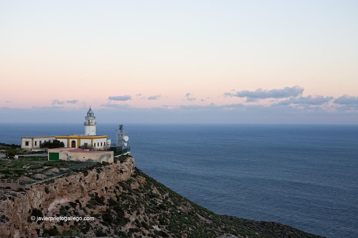 Faro de Mesa Roldán. Parque Natural del Cabo de Gata Níjar. Almería. Andalucía. España.© Javier Prieto Gallego