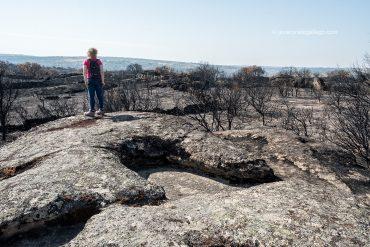 Ruta de las minas romanas de Pino del Oro. Paisaje quemado. Territorio calcinado. Parque Natural de las Arribes del Duero. Zamora. Castilla y León. España © Javier Prieto Gallego