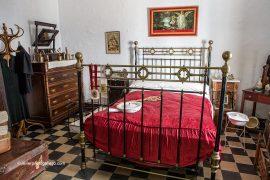 Dormitorio rural. Museo etnográfico de Don Benito. Localidad de Don Benito. Comarca de Vegas Altas. Badajoz. Extremadura. España.