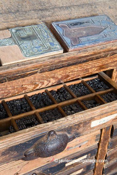 Sala de la Imprenta. Museo etnográfico de Don Benito. Localidad de Don Benito. Comarca de Vegas Altas. Badajoz. Extremadura. España.