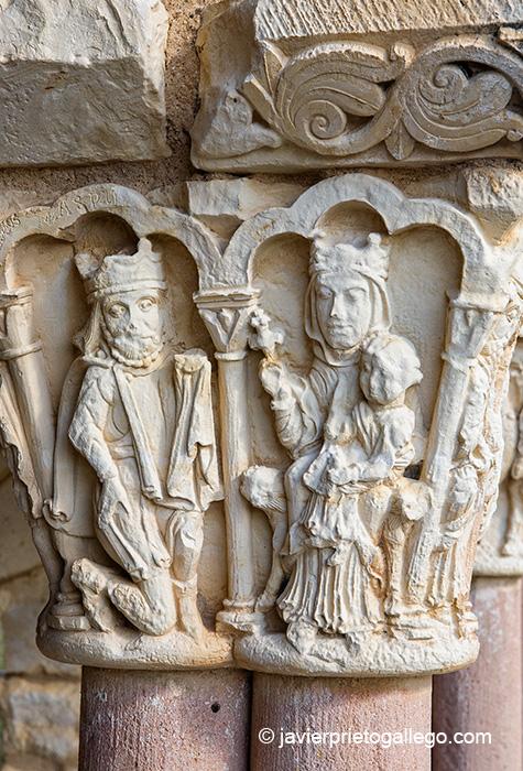 Capiteles de la galería porticada. Iglesia de la Asunción. Siglos XII-XIII. Duratón. Segovia. Castilla y León. España © Javier Prieto Gallego
