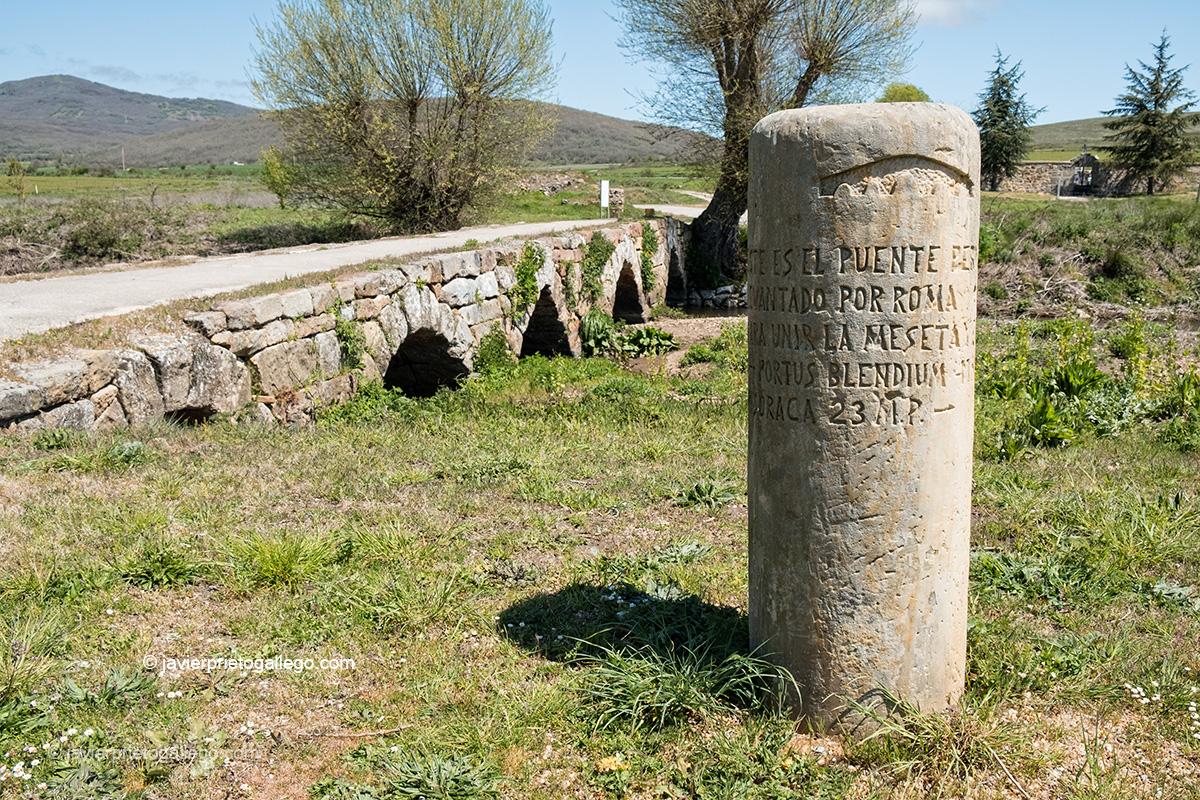 Puente romano de La Perdiz. Junto a la localidad de Nestar. Montaña Palentina. Palencia. Castilla y León. España © Javier Prieto Gallego;