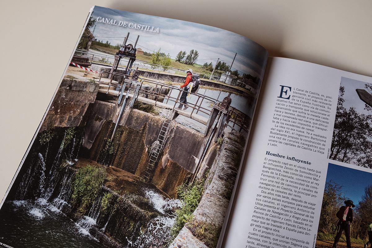 Una de mis fotografías sobre el Canal a doble página © Javier Prieto Gallego