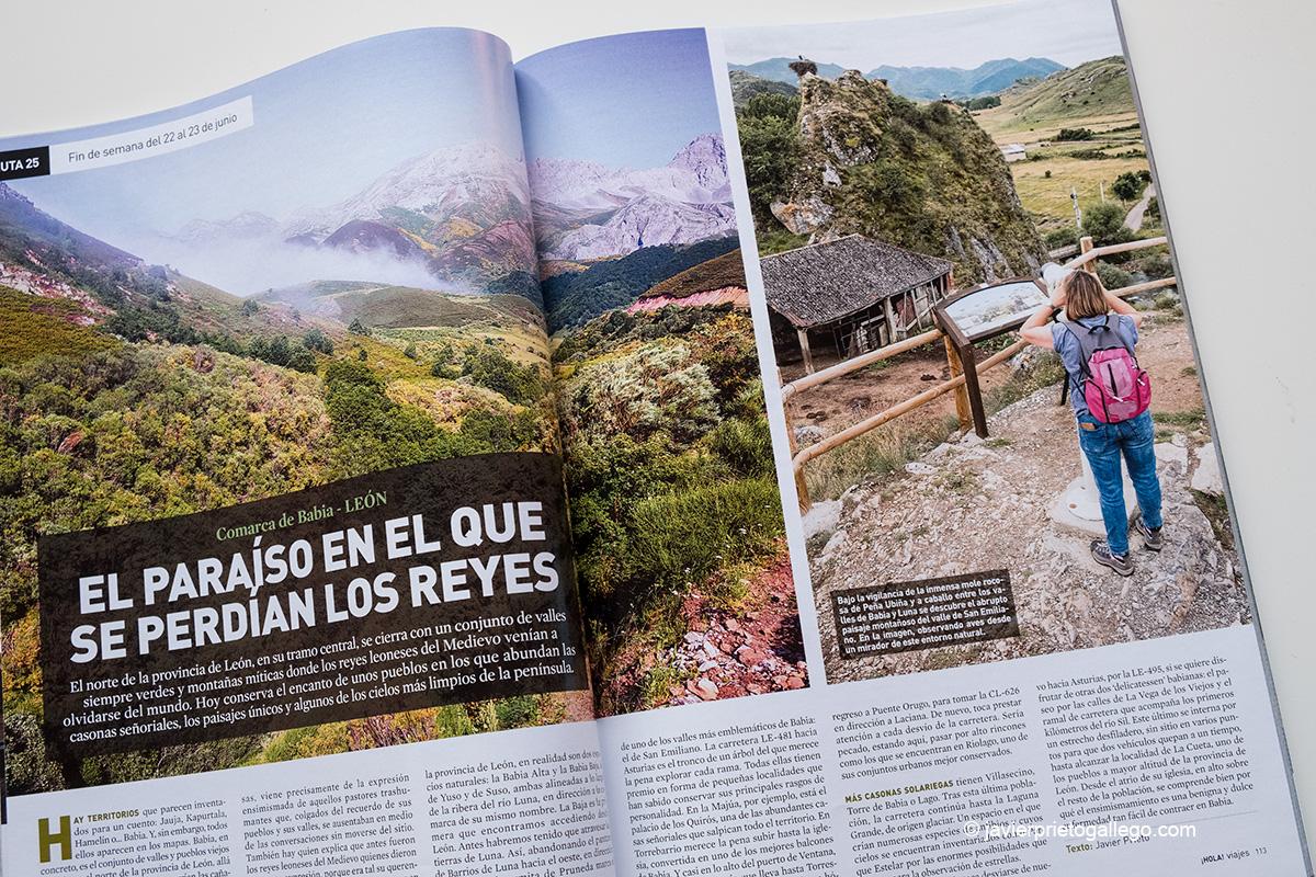El reportaje sobre Babia que firmo en el especial de viajes 2019 de la revista ¡HOLA! © Javier Prieto Gallego