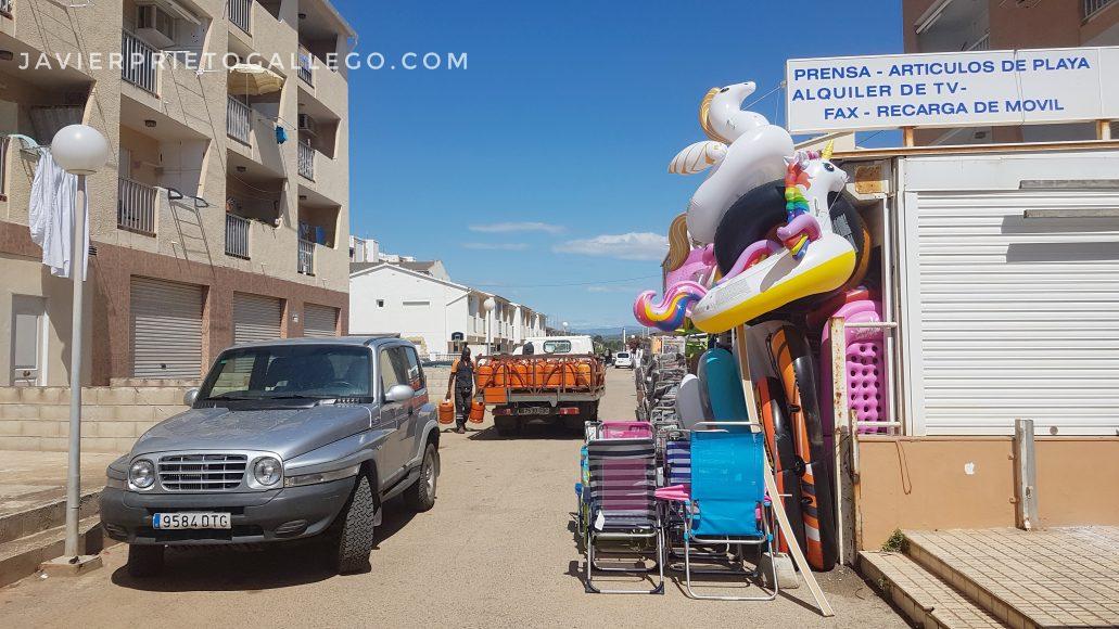 Calle cercana a la playa de Peñíscola. Castellón. Comunidad Valenciana. España. © Javier Prieto Gallego