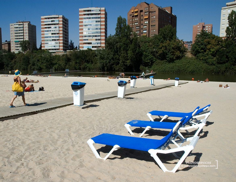 Playa de las Moreras junto al río Pisuerga. Valladolid. Castilla y León. España. © Javier Prieto Gallego