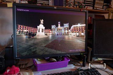La plaza Mayor de Valladolid en una visita virtual hecha desde un ordenador © Javier Prieto Gallego;