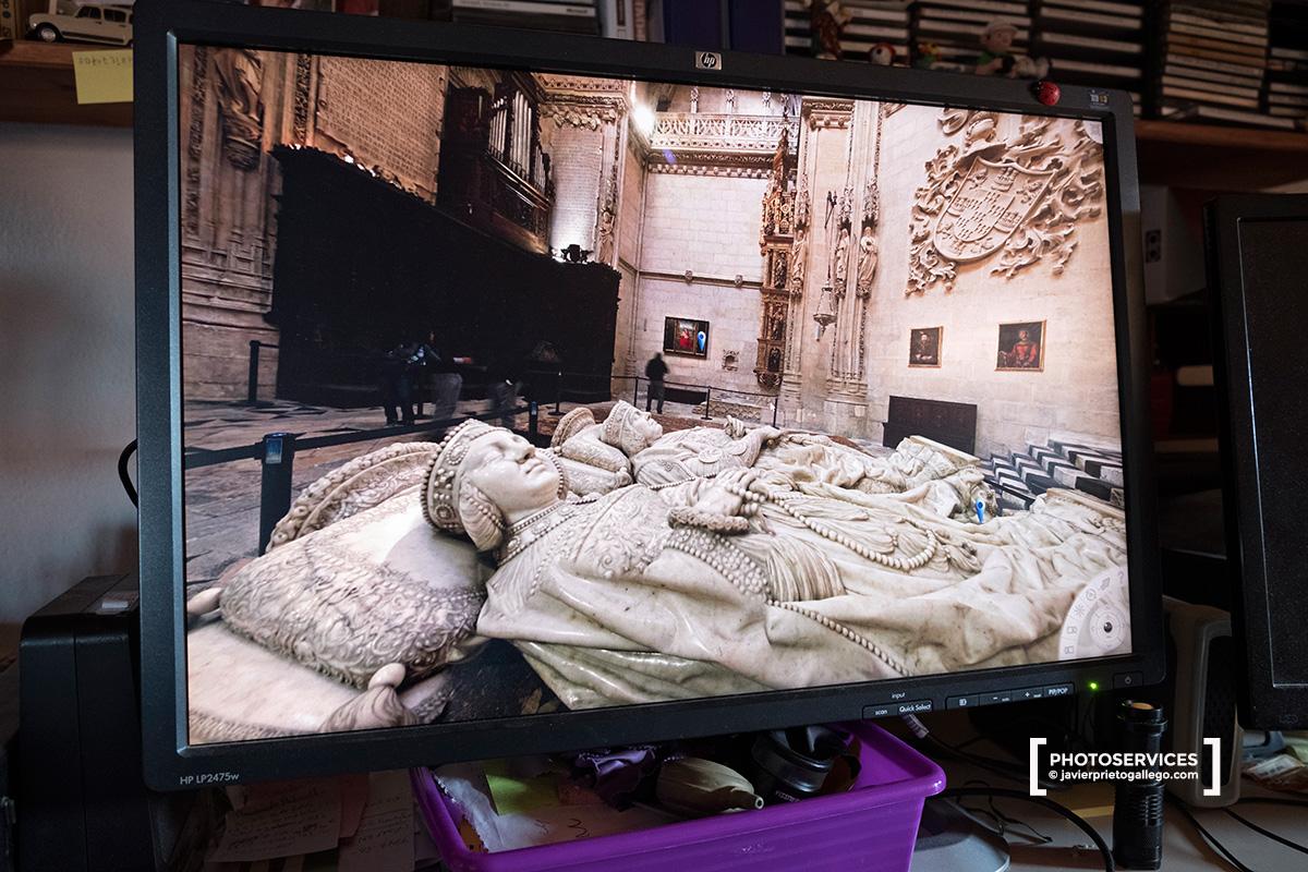 Capilla de los Condestables, de la catedral de Burgos, en una visita virtual hecha desde un ordenador © Javier Prieto Gallego;