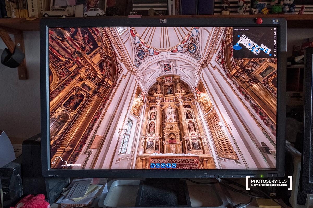 Capilla Relicario de la Colegiata de San Luis, en Villagarcía de Campos en una visita virtual hecha desde un ordenador © Javier Prieto Gallego;