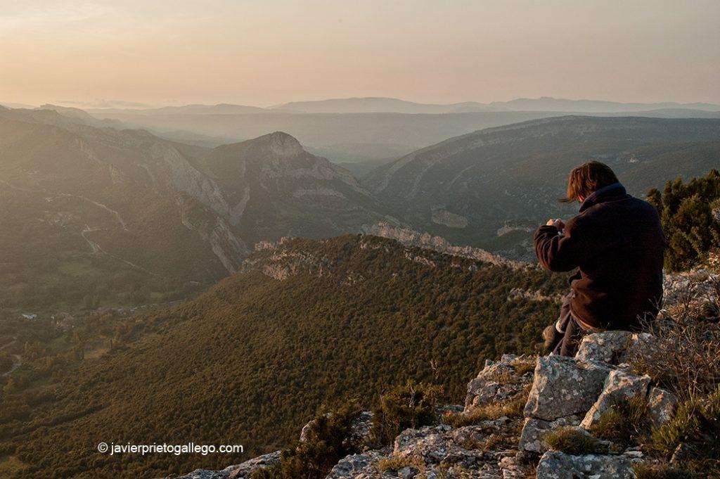 Los cañones del Ebro vistos desde La Mesa (1.113 m). Parque Natural de las Hoces del Alto Ebro y Rudrón. Merindades. Burgos. Castilla y León. España © Javier Prieto Gallego