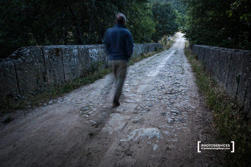 Puente de la Malena. Uno de los tramos mejor convservados de la Vía de la Plata, cerca de la Localidad de Montemayor del Río. Salamanca. Castilla y León. España.© Javier Prieto Gallego