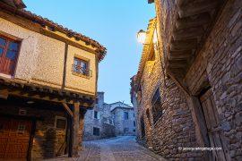 Un rincón de Yanguas al anochecer. Ruta de las Icnitas. Soria. Castilla y León. España. © Javier Prieto Gallego