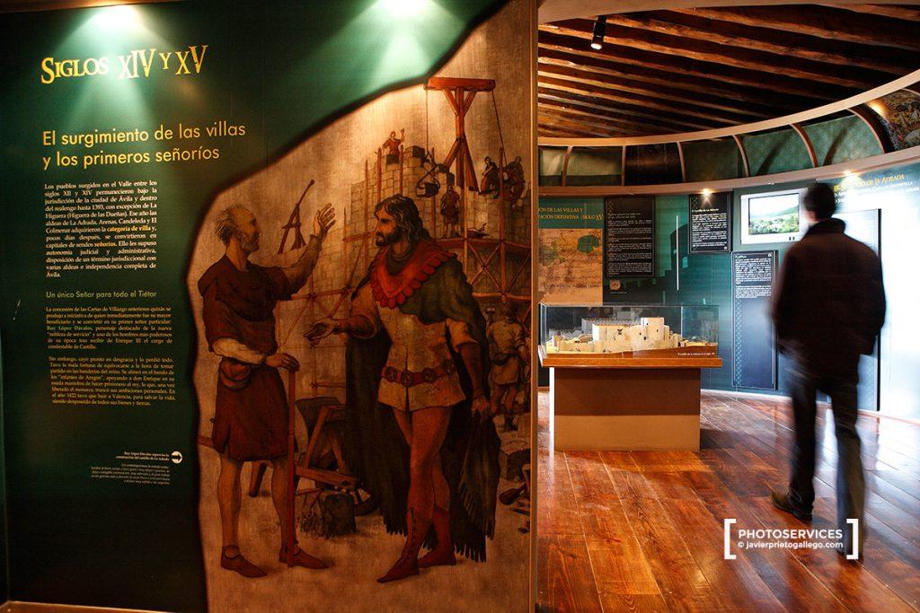 Interior del Centro de Interpretación ubicado en el castillo de La Adrada. Valle del Tiétar. Ávila. Castilla y León. España. © Javier Prieto Gallego;